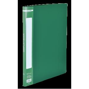 Папка с файлами 10 ф (А4) Buromax зеленая (BM.3601-04)