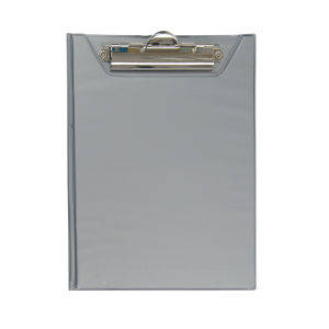 Папка-планшет с верхним зажимом ПВХ (А5) BuroMax (клипборд) серая (BM.3417-09)