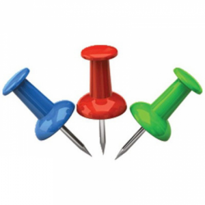 Кнопки-гвоздики цветные 25 шт 4OFFICE 4-334