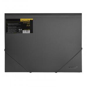 Папка на резинках пластик (А4) SCHOLZ 10506 черная