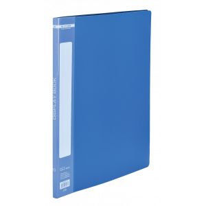 Папка с файлами 10 ф (А4) Buromax синяя (BM.3601-02)