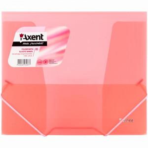Папка на резинке пластик (B5) Axent 4-35 мм прозрачно-красная (1505-24-a)
