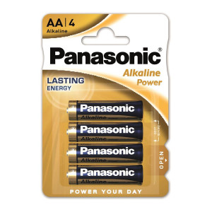 Батарейка AA LR06 PANASONIC Power Alkaline 4 шт/уп (LR6REB/4BPR)