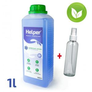 Средство для дезинфекции рук и инструментов 1000 мл Helper (колпачок) + бутылка с пульверизатором 200 мл