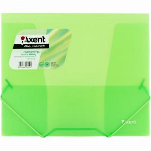 Папка на резинке пластик (B5) Axent 4-35 мм прозрачно-зеленая