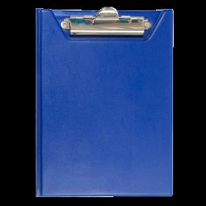 Папка-планшет с верхним зажимом ПВХ (А5) BuroMax (клипборд) тем.-синяя (BM.3417-03)