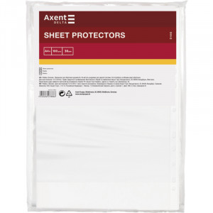 Файл глянцевый A4+ 30 мкм Axent вертик европерф (100 шт) (D1005)
