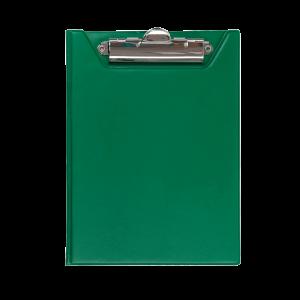 Папка-планшет с верхним зажимом ПВХ (А5) BuroMax (клипборд) зеленая (BM.3417-04)