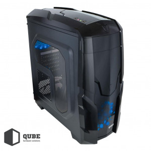 Корпус QUBE QB40X Black-Blue (QB40X_WBNU3)