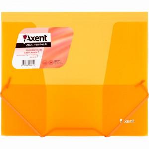 Папка на резинке пластик (B5) Axent 4-35 мм прозрачно-оранжевая (1505-25-a)