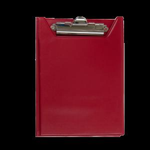 Папка-планшет с верхним зажимом ПВХ (А5) BuroMax (клипборд) красная (BM.3417-05)