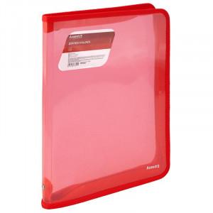 Папка на молнии объемная пластик (А4) AXENT 30 мм красная (1801-24-A)