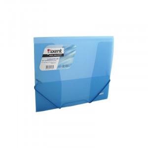 Папка на резинке пластик (B5) Axent 4-35 мм прозрачно-синяя (1505-22-a)