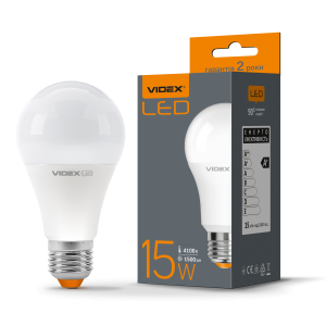 Лампа LED VIDEX 15W E27 4100K 220V (VL-A65e-15274)