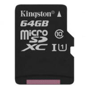 Карта памяти Kingston 64GB microSDXC Class 10 Canvas Select Plus 100R A1 (SDCS2/64GBSP)