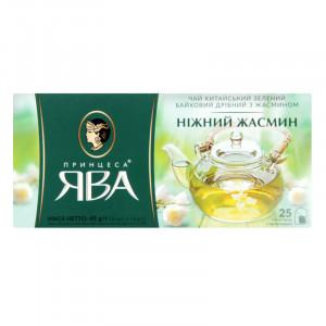 Чай зеленый в ф/п Принцесса Ява Жасмин, с жасмином, 25 пакетиков