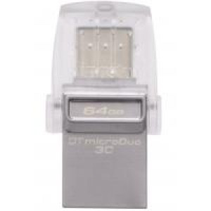 USB флеш накопитель Kingston 64GB DataTraveler microDuo 3C USB 3.1 (DTDUO3C/64GB)