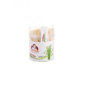 Зубочистки бамбуковые в стаканчике, Помічниця (400шт)