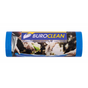 Мешки для мусора 120 л х 10 шт 70 х 105 см 22 мкм (LDPE) Buroclean EuroStandart синие (10200043)