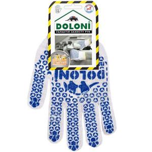 Перчатки вязаные (ПВХ-малюнок) Doloni 520 XL(10) 10 класс
