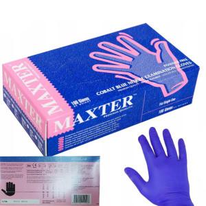 Перчатки нитриловые L-9 MAXTER (фиолет) 100 шт/уп (БЕЗ НДС)