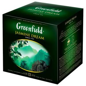 Чай зеленый в ф/п Greenfield Jasmin Dream, с жасмином, 120 пак