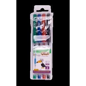 Набор из 4 гелевых ручек в пластиковом пенале, KIDS Line (ZB.2202-99)
