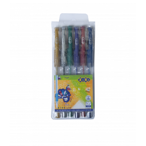 Набор из 6 гелевых ручек METALLIC в пластиковом пенале, KIDS Line (ZB.2203-99)