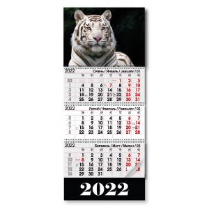 Квартальный календар 2022 Белый тигр, (11612)
