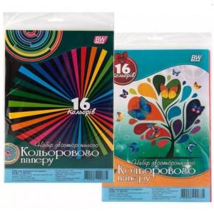 Набор цветной бумаги 2сторон А4 х 16 л х 16 цв БУМВЕСТ (БЕЗ НДС)