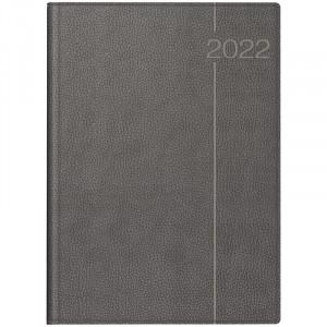 Ежедневник  датированный А4 2022 Brunnen Euro серый (70-27 504 842)