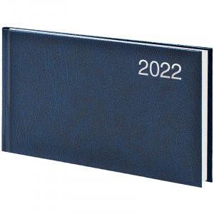 Еженедельник датированный 2022 153 х 870 мм Brunnen Miradur карманный синий (73-755 60 302)