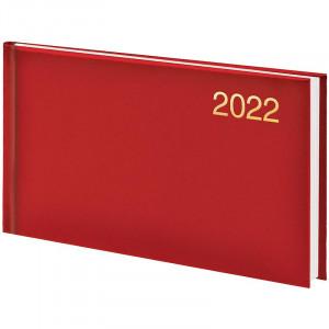 Еженедельник датированный 2022 153 х 870 мм Brunnen Miradur карманный красный (73-755 60 202)
