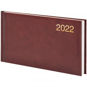Еженедельник датированный 2022 153 х 870 мм Brunnen Miradur карманный бордовый (73-755 60 292)