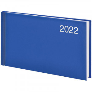 Еженедельник датированный 2022 153 х 870 мм Brunnen Miradur карманный ярко-синий (73-755 60 322)
