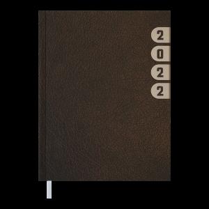 Ежедневник датир. 2022 INDEX, A5, коричневый (BM.2103-25)
