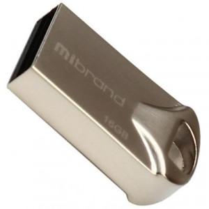Флешка 16GB Mibrand 16GB Hawk Silver USB 2.0 (MI2.0/HA16M1S)