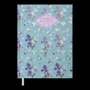 Ежедневник датир. 2022 BLOSSOM, A5, голубой (BM.2136-14)