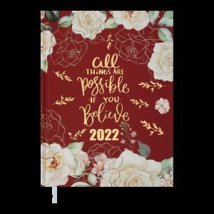 Ежедневник датир. 2022 FATTORE, A5, красный (BM.2139-05)