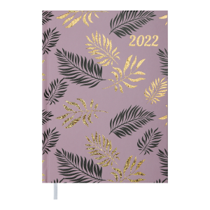 Ежедневник датир. 2022 LEAF, A5, какао (BM.2157-40)