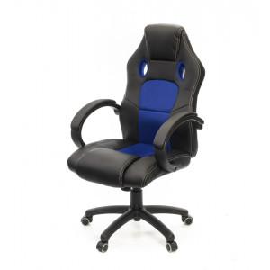 Кресло геймерское АКЛАС Анхель PL TILT Черный (PU-черный/cиний)