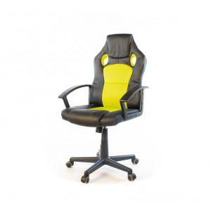 Кресло геймерское АКЛАС Анхель NEW PL TILT Черный (Черный/Салатовый)