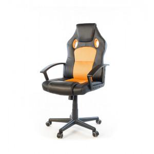 Кресло геймерское АКЛАС Анхель NEW PL TILT Черный (Черный/Оранжевый)