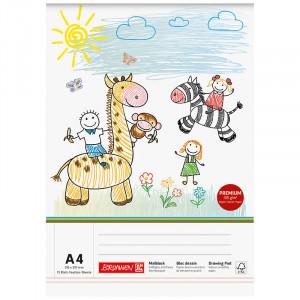 Альбом для рисования А4 75 лист. 100 г/м2, BRUNNEN (10 474 08 02)