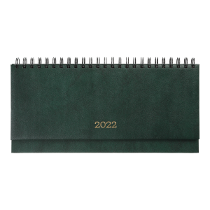 Планинг 2022 датированный BuroMax Base, (бумвинил), 320 х 125 мм, 120 стр., зеленый (BM.2599-04)