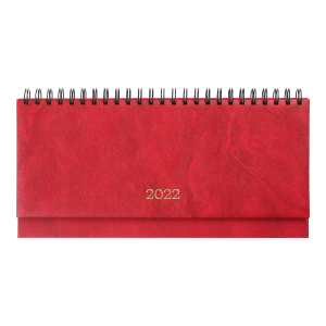 Планинг 2022 датированный BuroMax Base, (бумвинил), 320 х 125 мм, 120 стр., красный (BM.2599-05)