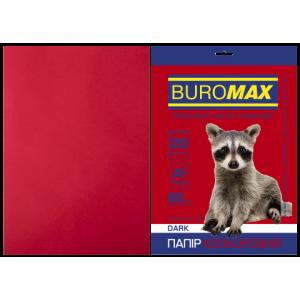 Бумага цветная А4 80 г/м кв BUROMAX 20 л DARK бордовая (BM.2721420-13)