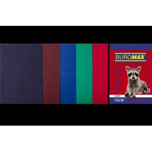 Бумага цветная А4 80 г/м кв BUROMAX 20 л DARK 5 цв. (BM.2721420-99)