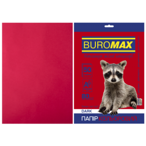 Бумага цветная А4 80 г/м кв BUROMAX 20 л DARK бордовая (BM.2721450-13)