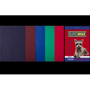 Бумага цветная А4 80 г/м кв BUROMAX 50 л DARK 5 цв. (BM.2721450-99)